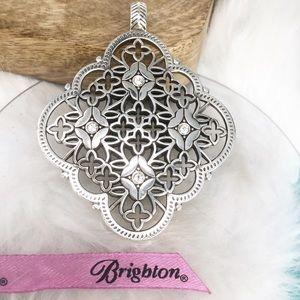 Brighton ALCAZAR Crystal Silver Pendant Only NWOT